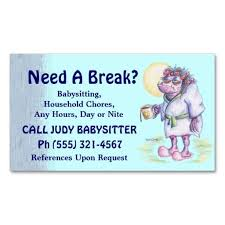what to put on a babysitting resume 150 best babysitting business cards images on pinterest