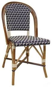 Blue Bistro Chairs Beaufurn Fb 207 French Bistro Chair In Pattern B Weave In Sea