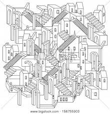 drawing non existent city vector photo bigstock