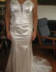 brides show their knock off wedding dresses that look nothing like