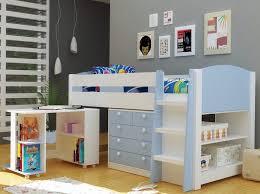children s desk with storage skye light blue childrens mid sleeper bed with storage and desk