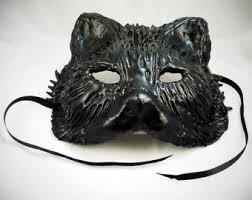 Black Mask Halloween Costume Black Mask Etsy