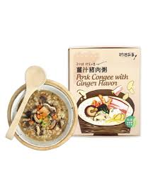 cuisines sold馥s luyao ecology mushrooms pork congee with flavor 4pcs