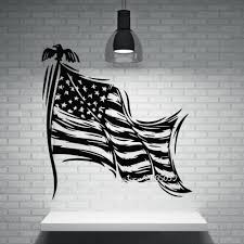 online get cheap stripe wall stickers aliexpress com alibaba group patriotic decor wall stickers stars striped symbol of the state flag of usa wall decals perfect