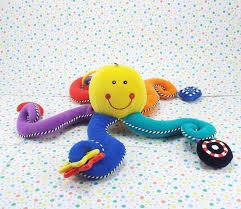 kids preferred developmental octopus baby toy plush lovey