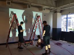 going big how to transfer lettering to a wall u2014 efdot studio