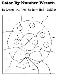 christmas color by number worksheets u2013 wallpapercraft