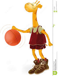 giraffe the basketball player stock images image 12134824