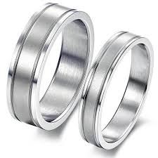 Personalized Wedding Band Titanium Stainless His U0026 Her Couple Rings For Promise Wedding