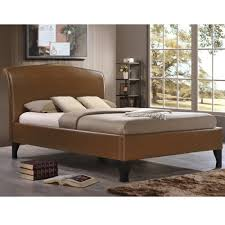 Double Faux Leather Bed Frame by Birlea And46tan Andorra 4ft6 Double Tan Faux Leather Bed
