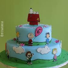 petits gâteaux snoopy birthday cake
