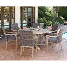 Patio Teak Furniture Hilo 100 Fsc Certified Teak 7 Piece Dining Set Kidik