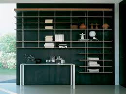contemporary wooden and metal bookcase graduate by jean nouvel