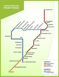 Metro Line Map by Cmrl Welcome To Chennai Metro Rail