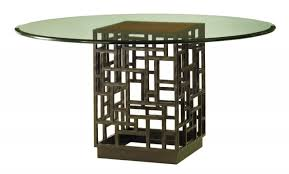 Dining Room Table Pedestals by Dining Rectangle Glass Dining Table Top With Black Wooden Bases