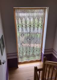 macrame curtain custom macrame wall hanging dorm decor