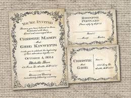 vintage postcard wedding invitation templates tags wedding