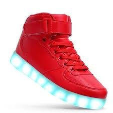 high top light up shoes high top led light up shoes for men red lighting shoes
