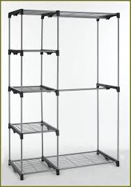 whitmor double rod freestanding closet silverblack home design ideas