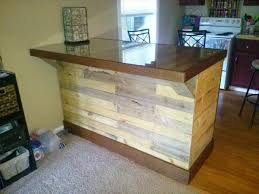 Pallet Kitchen Island Diy Pallet Island Table With Glass Top 101 Pallets