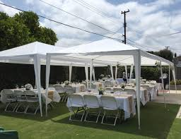 how many tables fit under a 10x20 tent quictent 10 x 20 outdoor gazebo canopy wedding party tent with 6