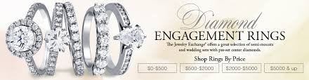 wedding diamond engagement rings from the jewelry exchange