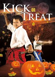 kick or treat safety tips halloween card 3b muscle