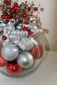 Christmas Centerpiece Craft Ideas - christmas centerpiece red and silver by preservemymemories