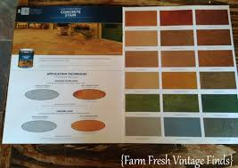 Tiling On Concrete Floor Basement by How To Stain Concrete Part 2 Farm Fresh Vintage Finds