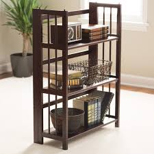 White Folding Bookcase by 3 Tier Stackable Folding Bookcase Hayneedle