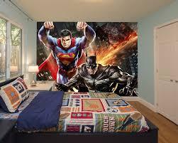 wall mural batman vs superman fotomurales arte kids wall mural strawberry shortcake