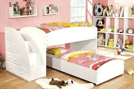 solid wood white twin size loft bed with desk l low modern storage
