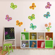 butterfly fabric wall stickers by mirrorin notonthehighstreet com butterfly fabric wall stickers