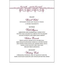wedding menu cards wedding menu cards