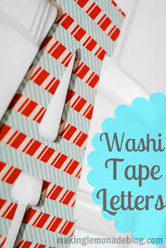 washi tape wooden letter kids craft idea making lemonade