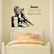 Girls Bedroom Wall Quotes Horse Decal Barrel Racer Wall Sticker Girls Bedroom Name