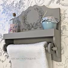grey wooden wall towel display unit oscar u0027s boutique limited