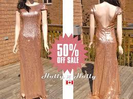rose gold sequin bridesmaid dress blush gold bridesmaid