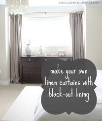 how to make curtains with blackout lining window diy curtains