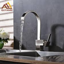 cuisine chaude brossé nickel cuisine robinet cascade bec pont monté évier d eau