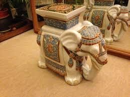 Porcelain Elephant China Elephant Ornament Plant Stand Decorative Elephant Pot Stand