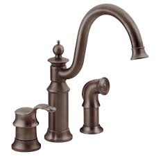 moen s711orb waterhill one handle kitchen faucet with side spray