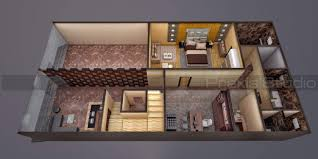 architectural 3d floorplan view architectural visualization 3d