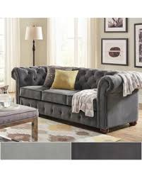 Velvet Tufted Loveseat Spectacular Deal On Knightsbridge Velvet Tufted Scroll Arm