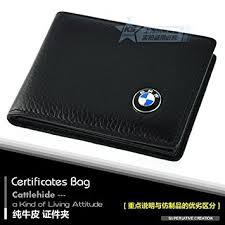 porta documenti auto bmw astuccio in pelle portadocumenti auto con logo bmw