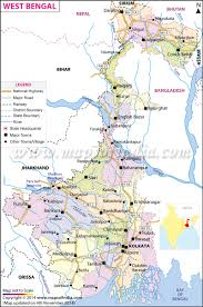 North India Map by West Bengal Map