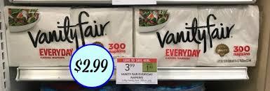 Vanity Napkins New Vanity Fair Everyday Napkins Coupon For Publix Sale 300 Ct