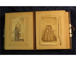 antique photo album 1331 antique photo album with numerous family pictures including