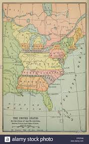 Map Of North America States by Map Of Eastern North America In 1783 Some Eastern States