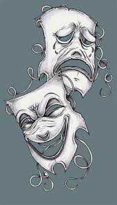 tattoo design theater masks by tjiggotjurring on deviantart